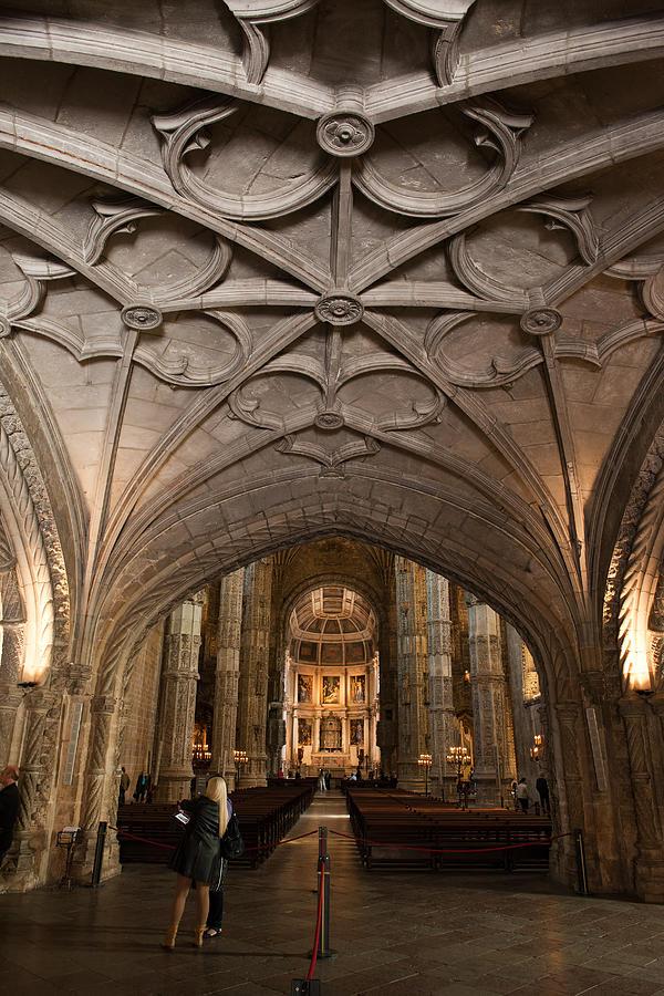 Jeronimo Photograph - Interior Of Jeronimos Monastery Church In Lisbon by Artur Bogacki