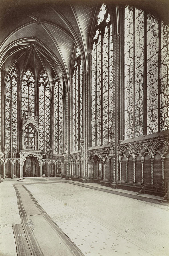 Interior Of Sainte Chapelle Paris France Drawing By Artokoloro