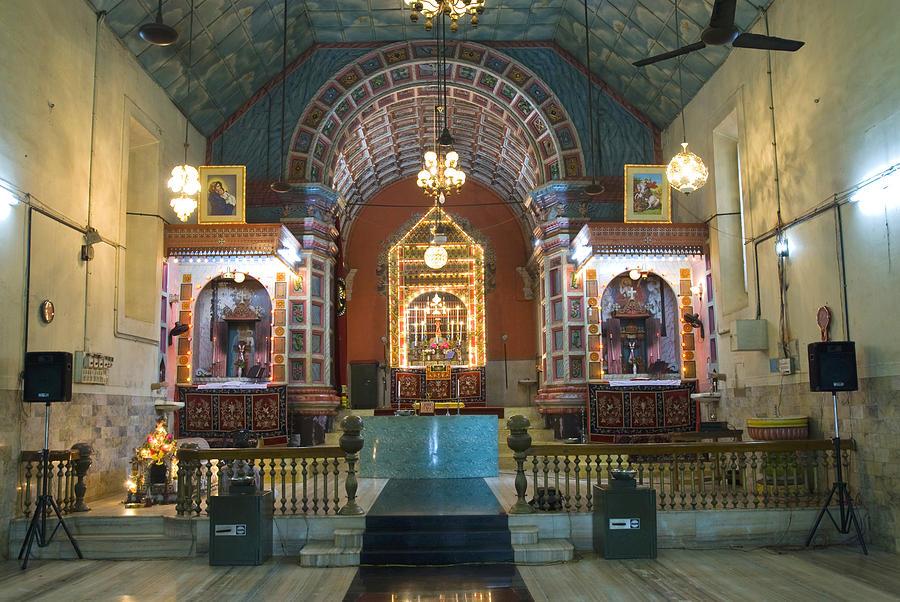 Interior Of St  George Jacobite Syrian Church Kadamattom Church In  Kadamattam, Kerala, India