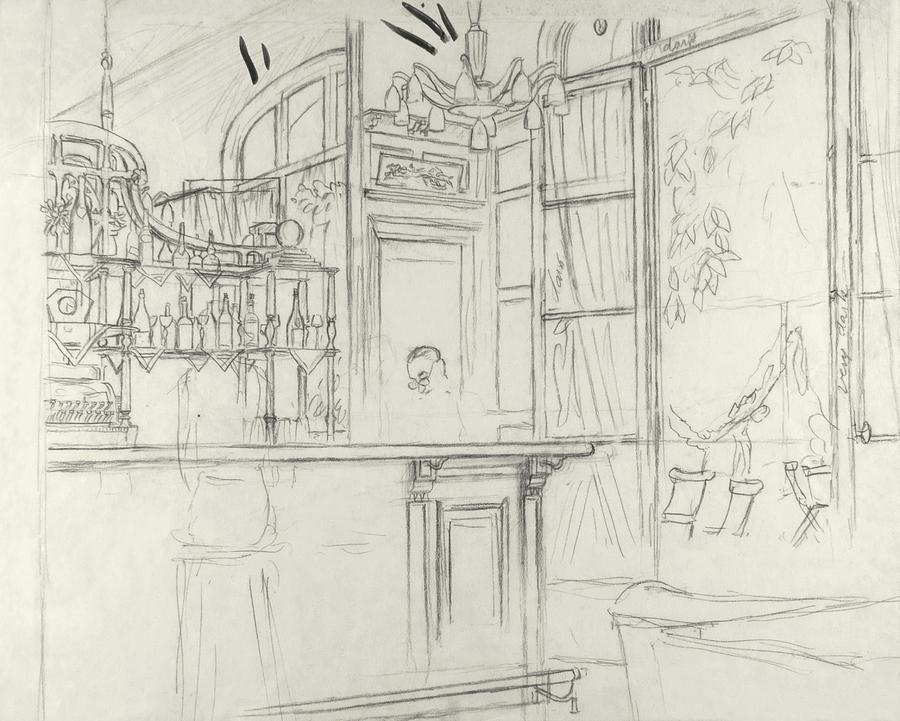 Interior Of The Grand Conde Bar Digital Art by Carl Oscar August Erickson