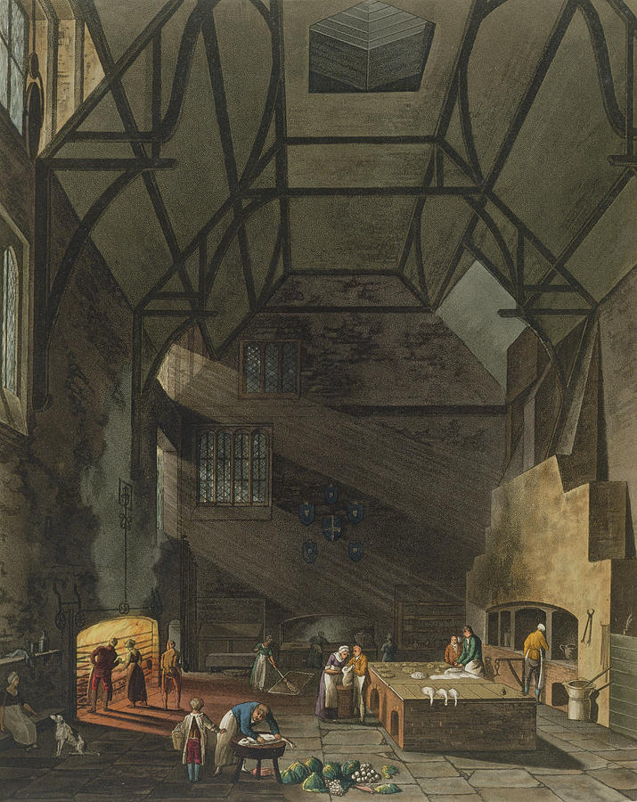Beam Drawing - Interior Of The Kitchen, Trinity by William Henry Pyne