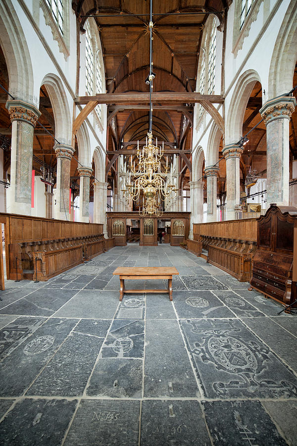 Kerk Photograph - Interior Of The Oude Kerk In Amsterdam by Artur Bogacki