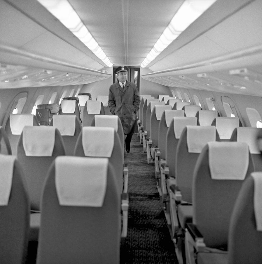 Tu: Interior Of Tu-144 Supersonic Airliner Photograph By