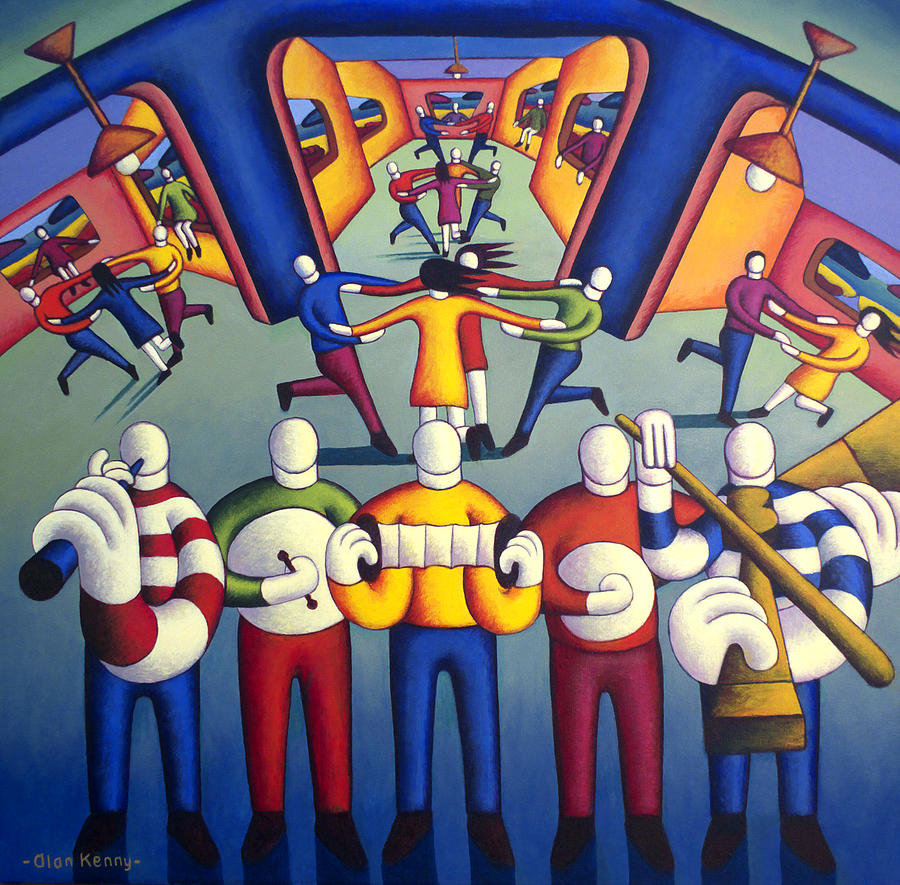 interior  trad.session with dancers by Alan Kenny