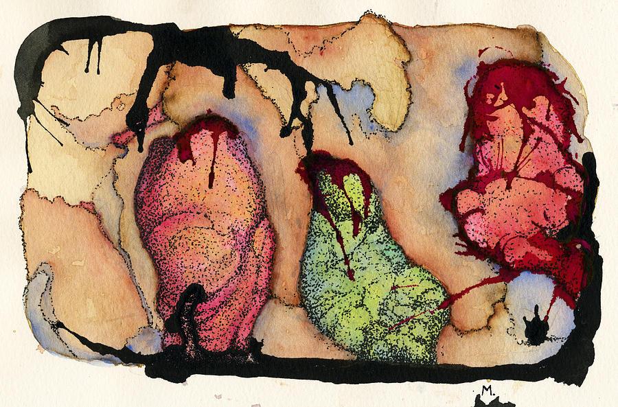 Orange Painting - Internal Landscape Eight by Mark M  Mellon