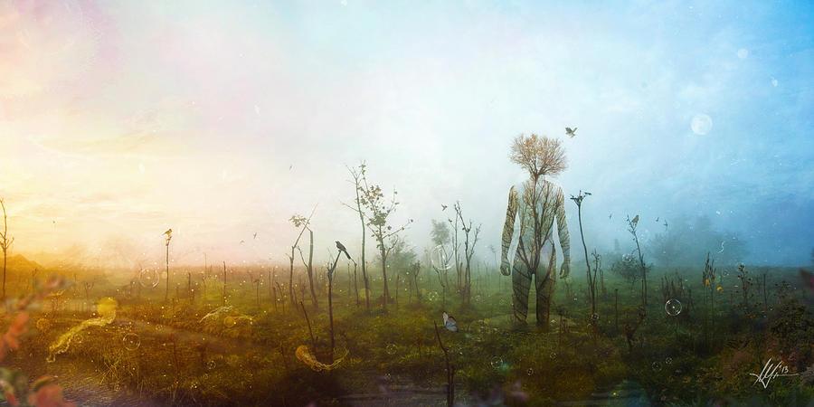 Surreal Landscape Digital Art - Internal Landscapes by Mario Sanchez Nevado