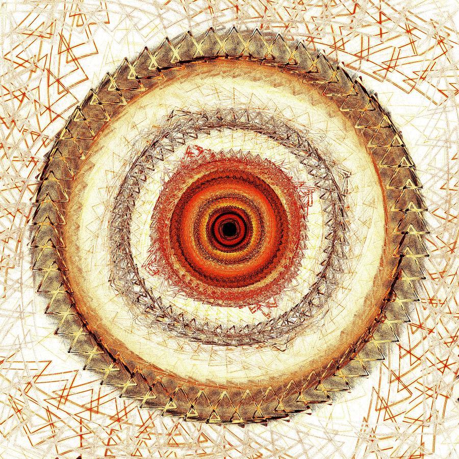 Interior Digital Art - Internal Target by Anastasiya Malakhova