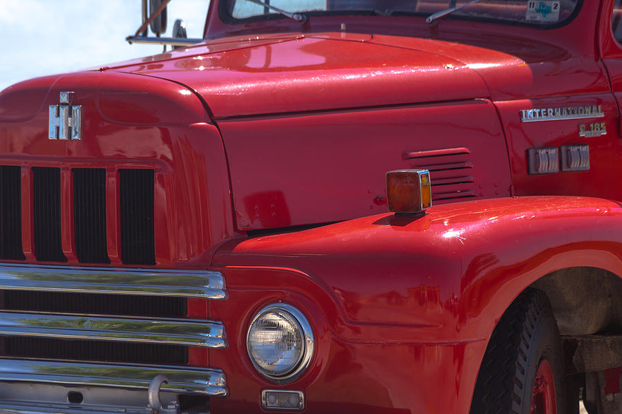 International harvester r 185 firetruck photograph by ed for International harvester wall decor