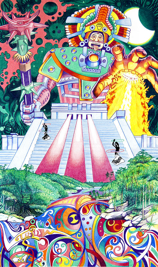 The String Cheese Incident Drawing - International Incident Mexico by Joshua Morton