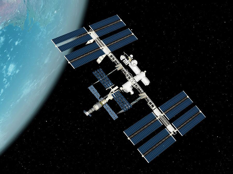 International Space Station, Artwork Digital Art by Sciepro