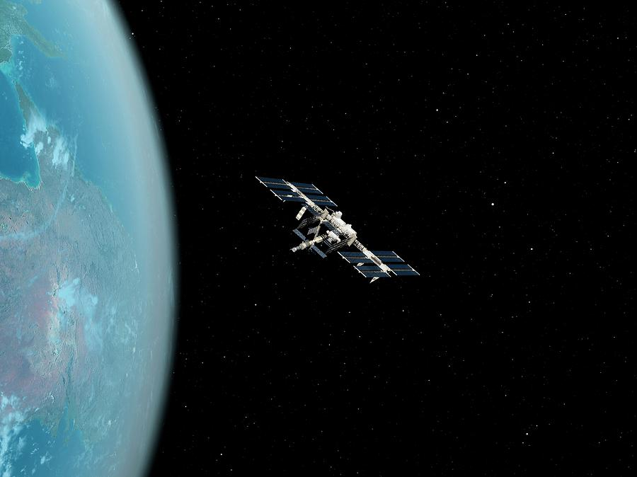 Artwork Photograph - International Space Station by Sciepro/science Photo Library