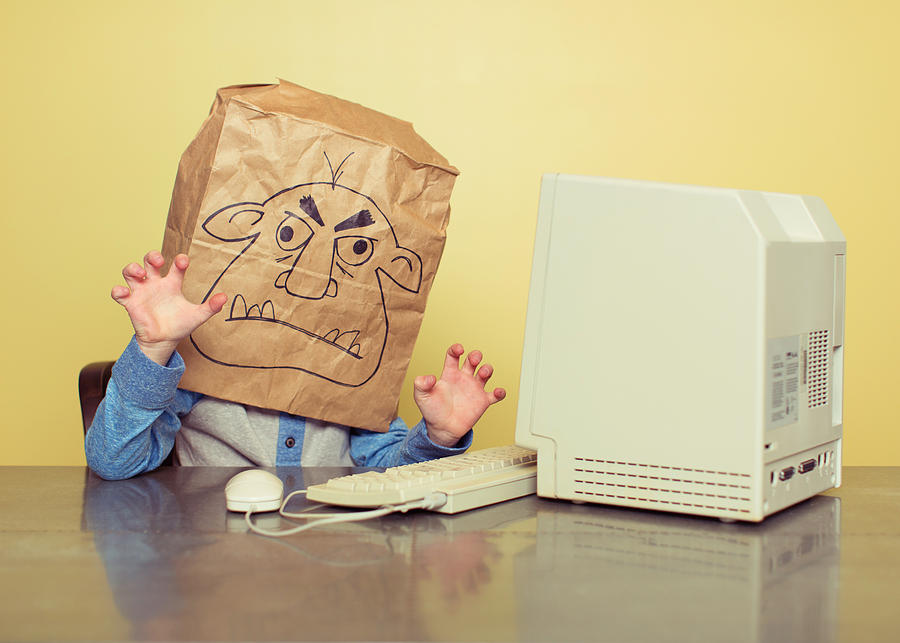 Internet Troll Is Mean At The Computer Photograph by RichVintage