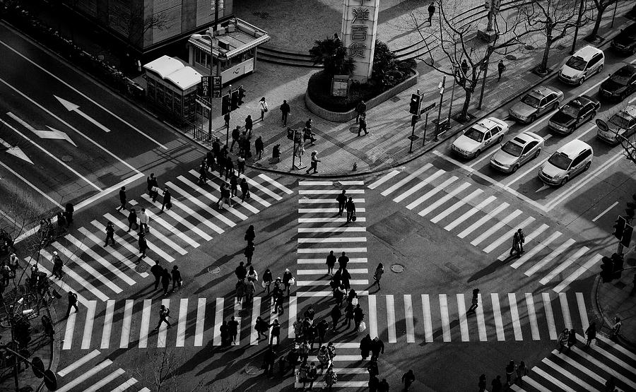 Street Photograph - Intersection ( Crossing Alternatives ) by C.s. Tjandra