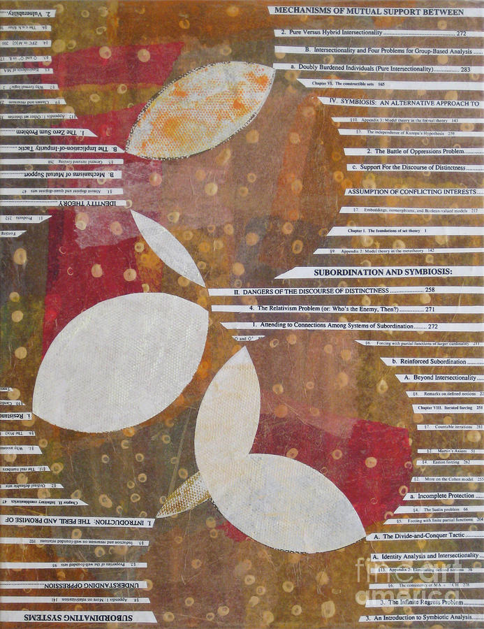 Abstract Painting - Intersection Of Contents by Alana Boltwood