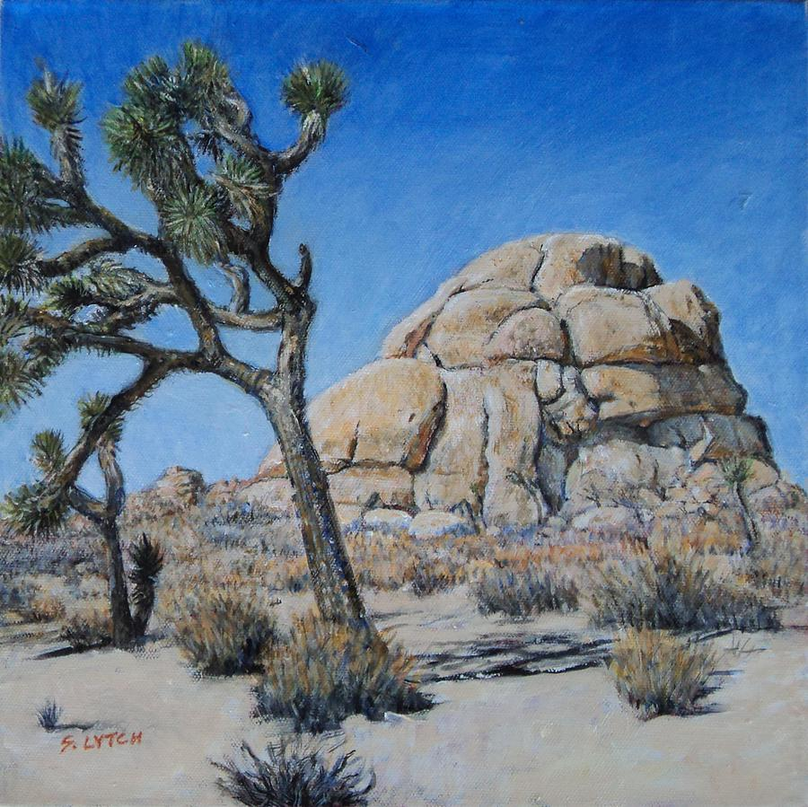 Intersection Rock In Joshua Tree National Park Painting - Intersection Rock by Sandra Lytch