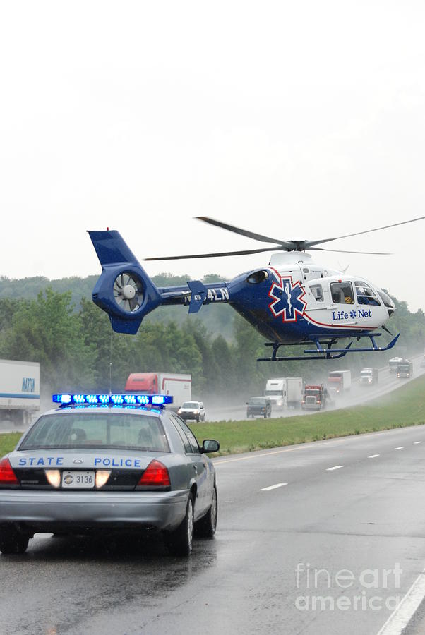 Lifenet Photograph - Interstate Rescue by Steven Townsend