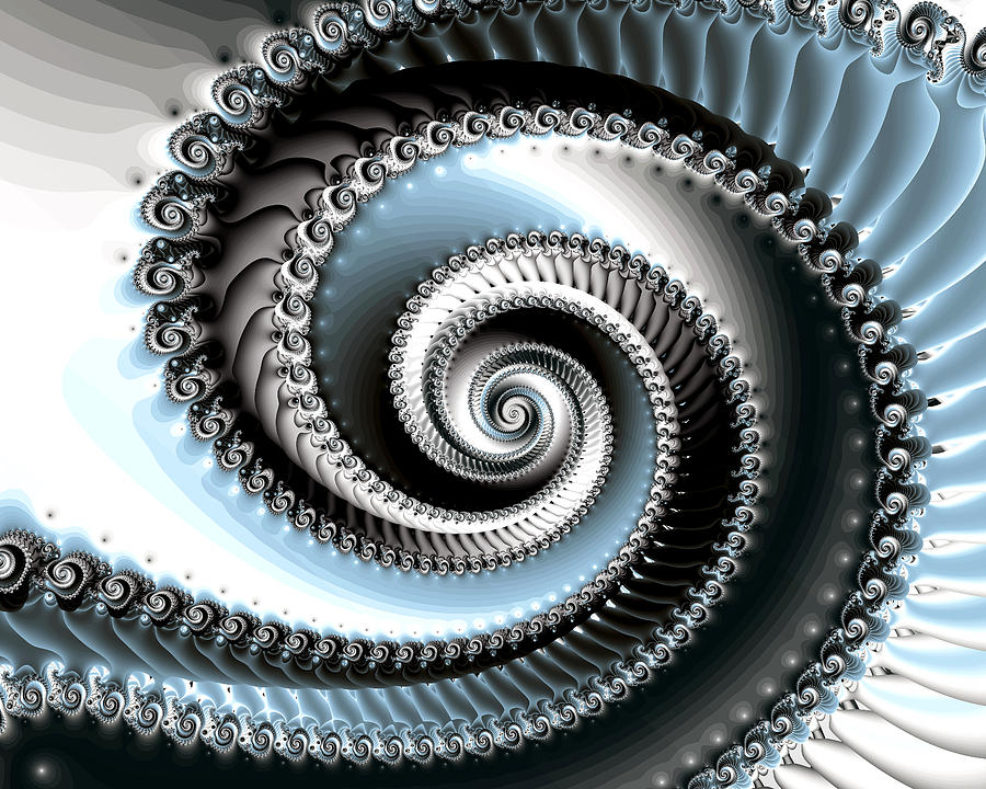 Fractal Photograph - Intervolve by Kevin Trow