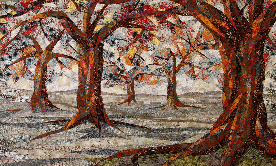 Trees Tapestry - Textile - Interwoven by Linda Beach