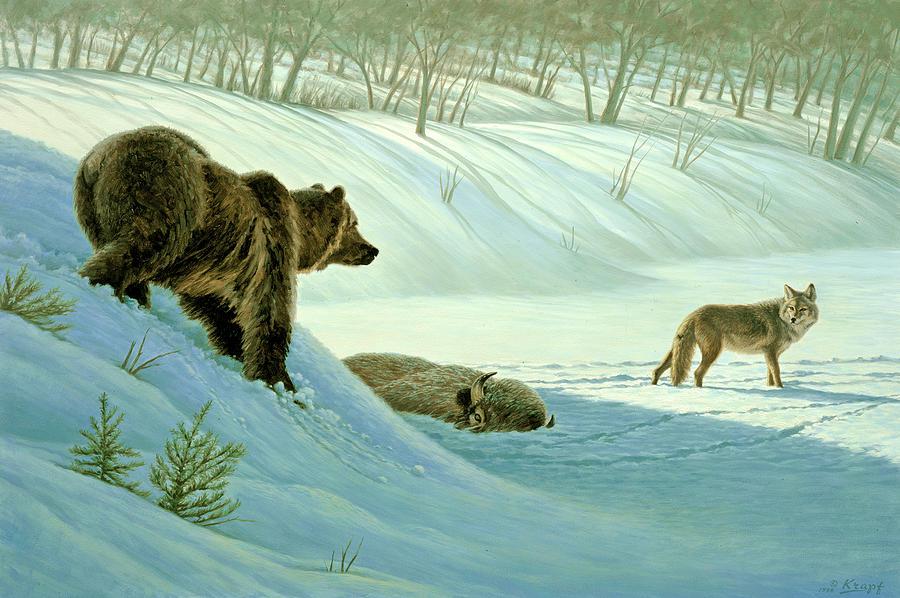 Wildlife Painting - Intimidation   by Paul Krapf