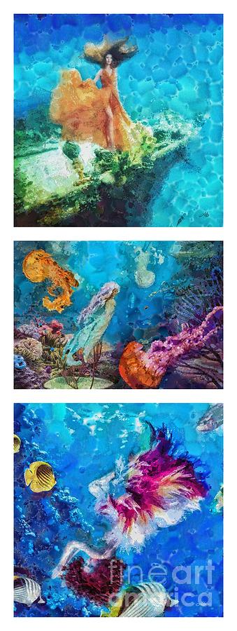 Into Deep Painting - Into Deep Triptic by Mo T