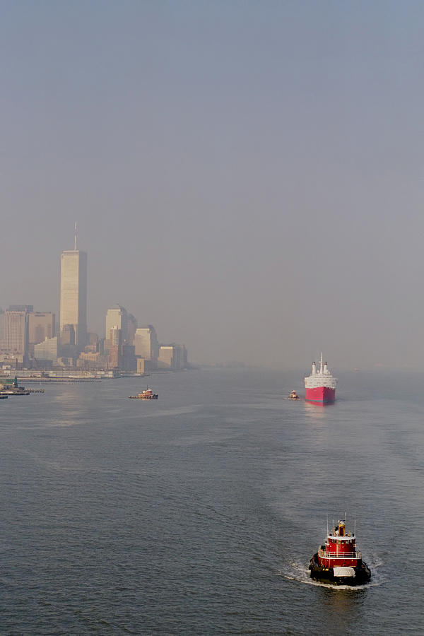 New York City Photograph - Into Port by Joann Vitali