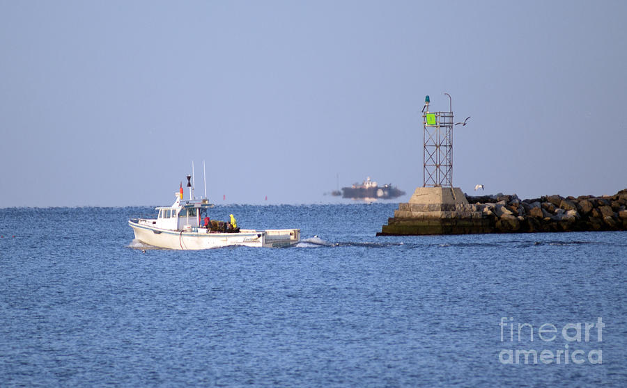 Boat Photograph - Into The Blue by Joe Geraci