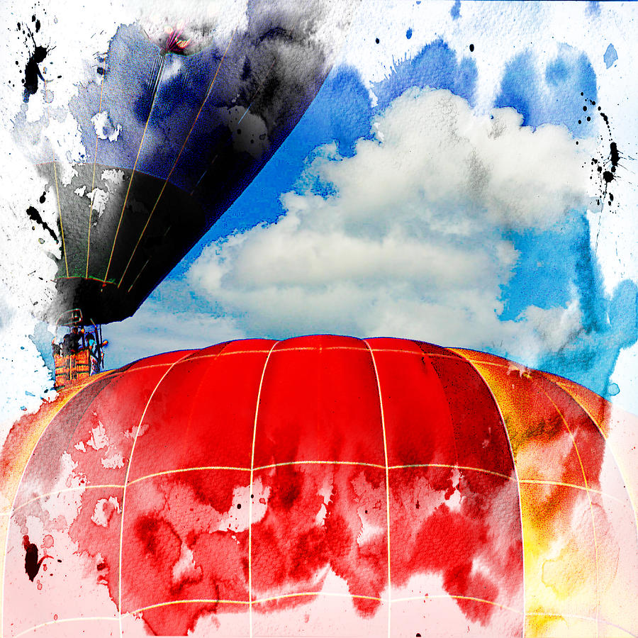 Hot Air Balloons Digital Art - Into The Clouds by Ken Evans