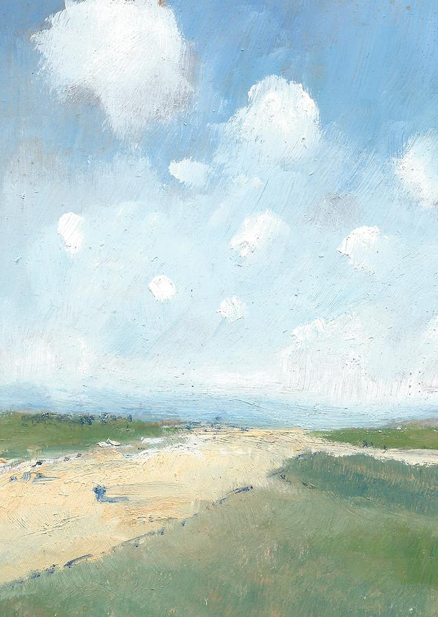 Oil Landscapes Painting - Into The Distance Part Six by Alan Daysh