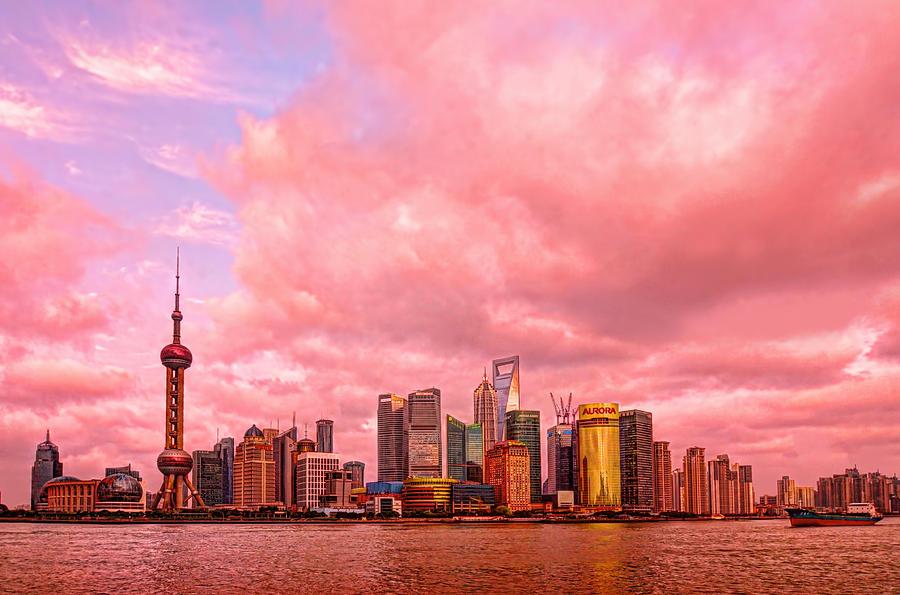 Shanghai Photograph - Into The Future by Midori Chan