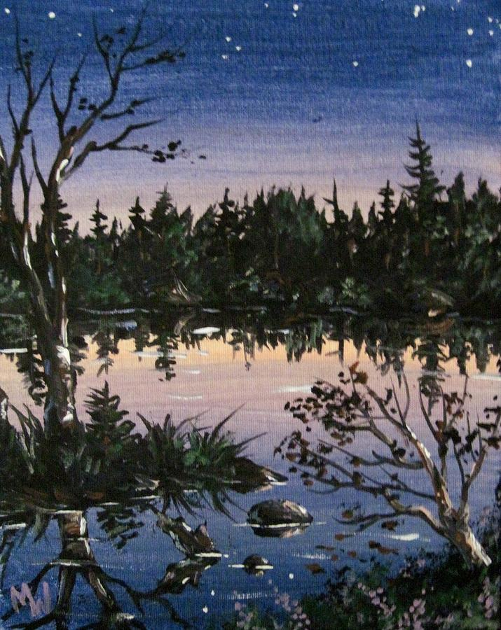 Twilight Painting - Into The Gloaming by Megan Walsh