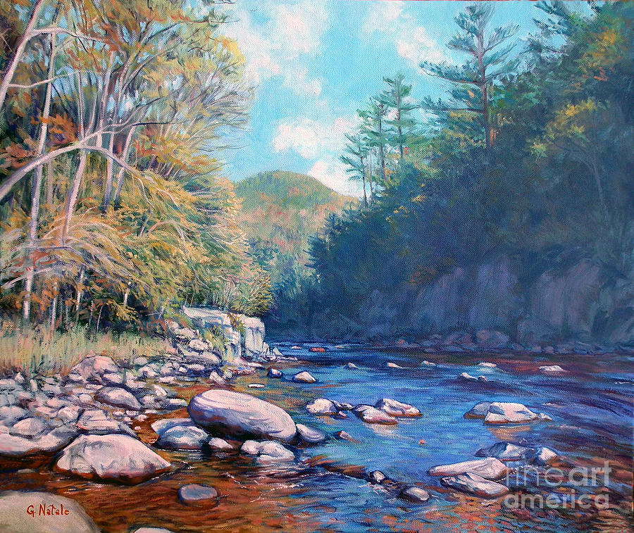 Gorge Painting - Into The Gorge by Gerard Natale