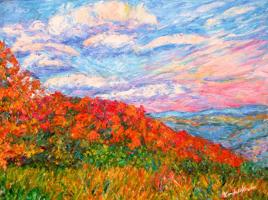 Blue Ridge Mountains Painting - Into the Gorge by Kendall Kessler