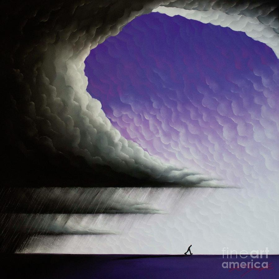 Storm Painting - Into The Light 3 by Chris Mackie