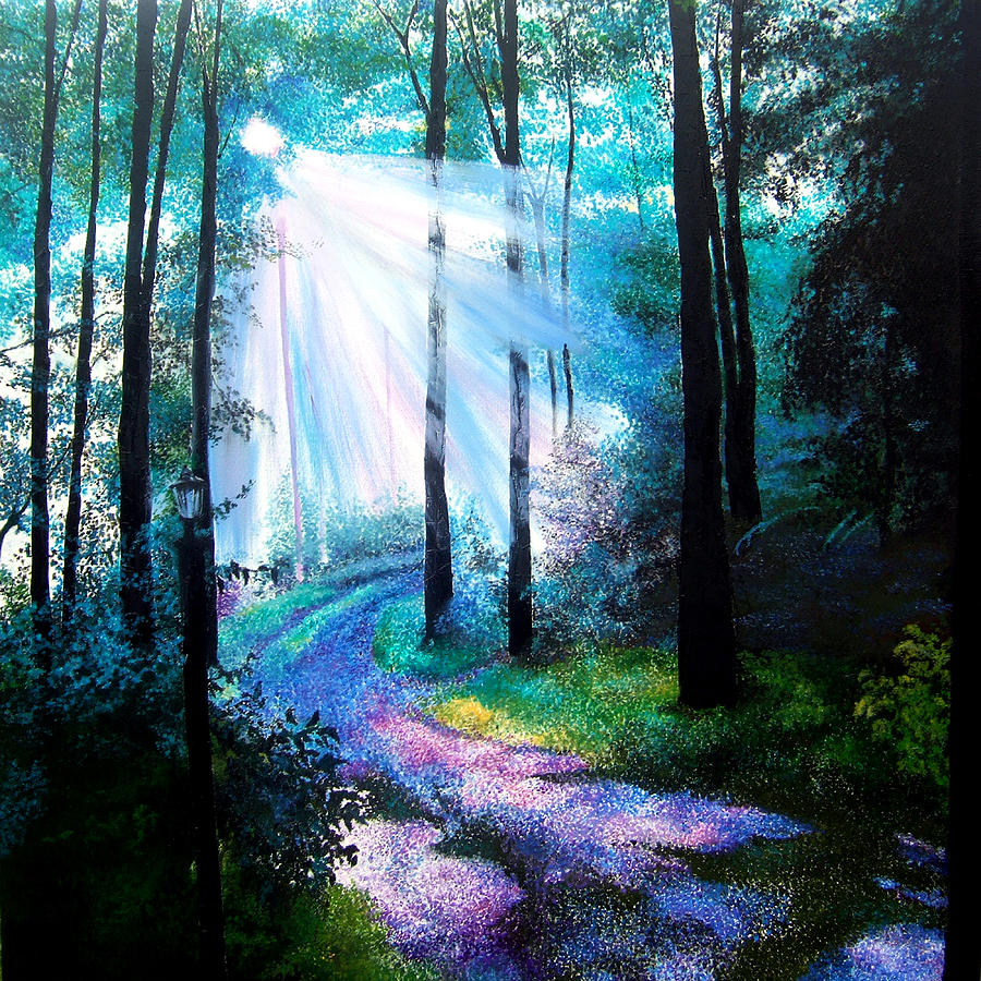 Pointillism Painting - Into The Light. by Jennifer  Blenkinsopp