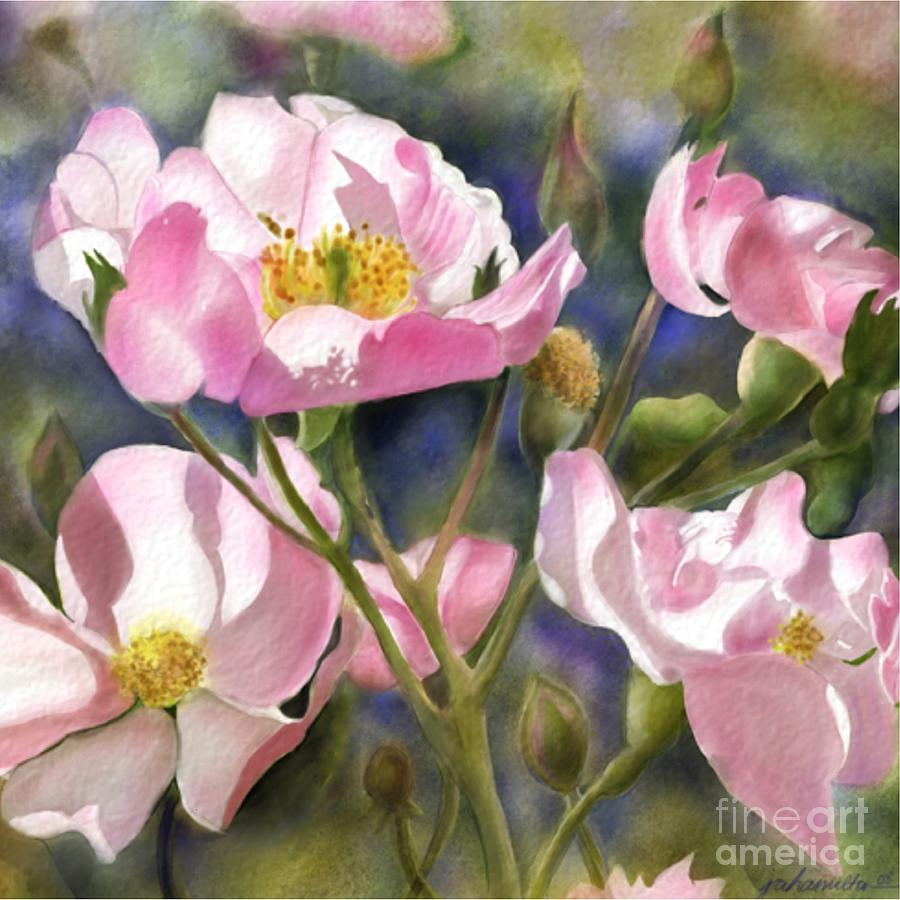 Wild Roses Painting - Into The Light by Joan A Hamilton
