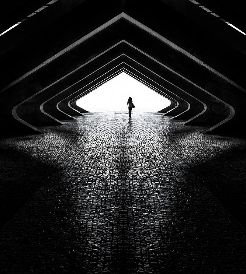 Lines Photograph - Into The Light by Mandru Cantemir