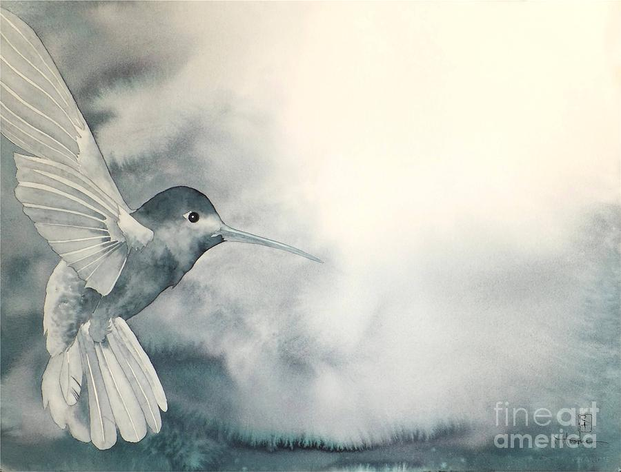 Watercolor Painting - Into The Light by Robert Hooper