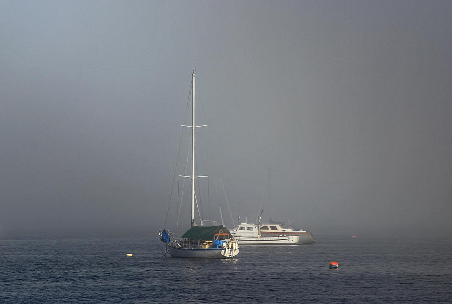 Boats Photograph - Into The Mist by Randy Hall