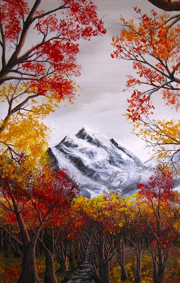 Into The Mountains Painting by Pheonix Creations