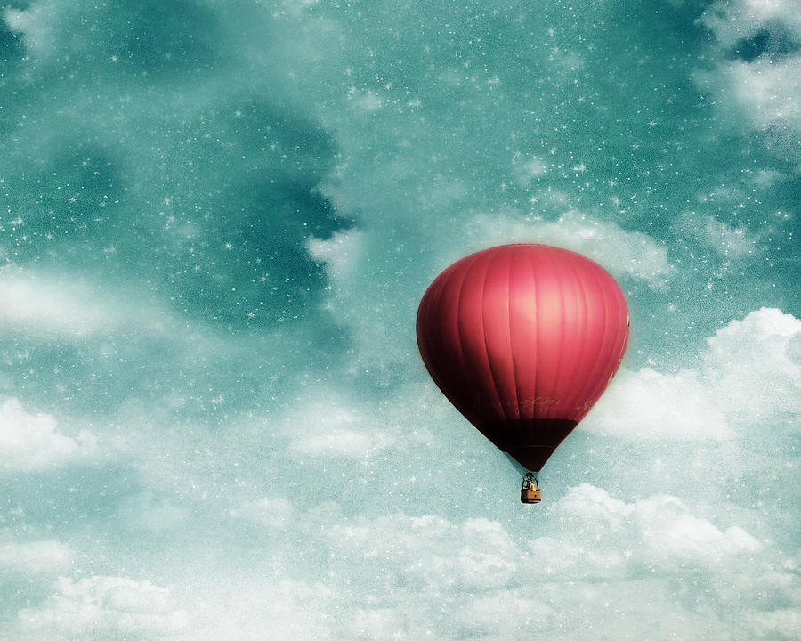 Hot Air Balloon Photograph - Into The Night by Amy Tyler