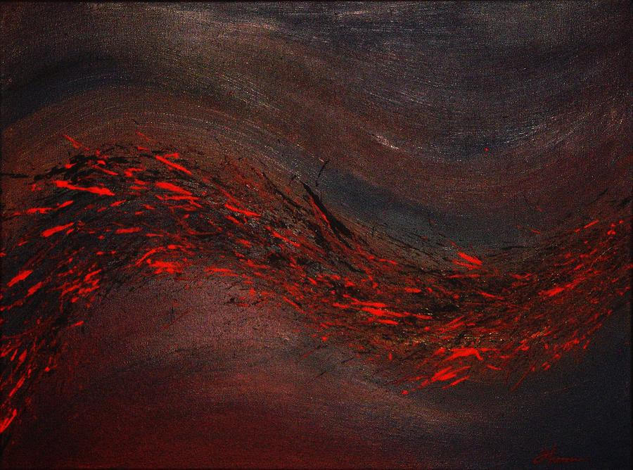 Acrylic Painting - Into The Night by Todd Hoover