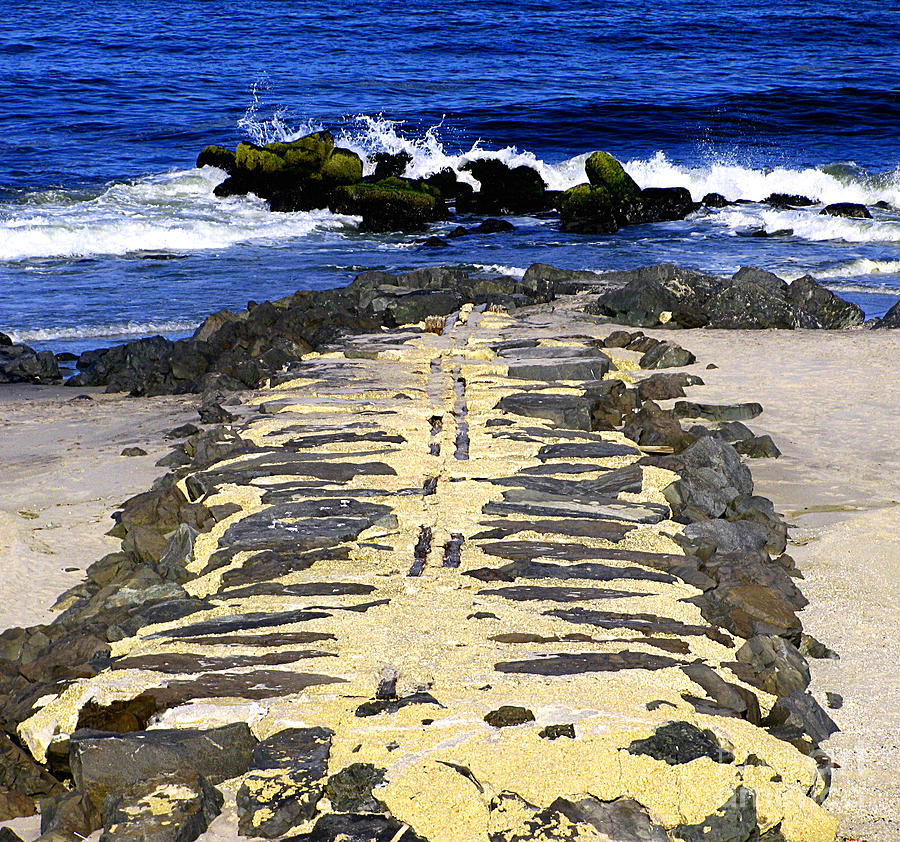 Jetties Photograph - Into The Sea by Colleen Kammerer