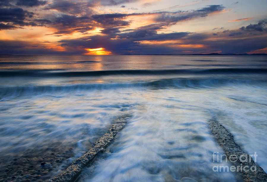 Seascape Photograph - Into The Sea by Mike  Dawson