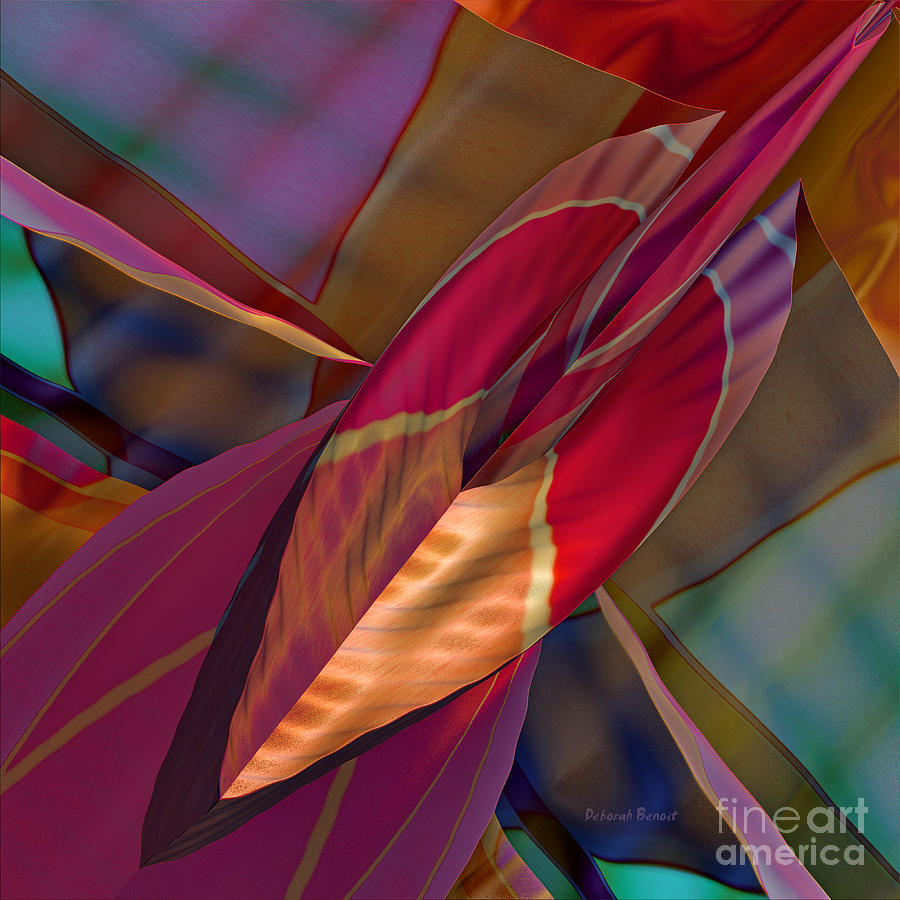 Abstract Digital Art - Into The Soul by Deborah Benoit