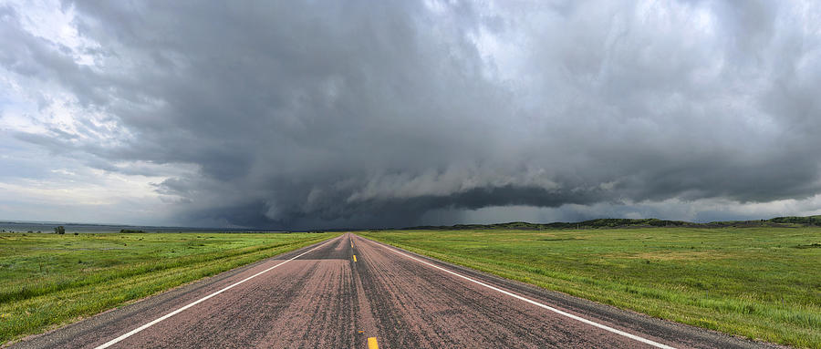 Storm Photograph - Into the storm by Sebastien Coursol
