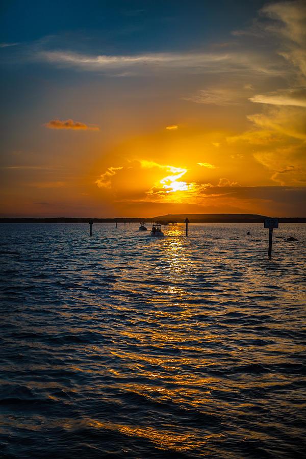Boat Photograph - Into the Sun by Dan Vidal
