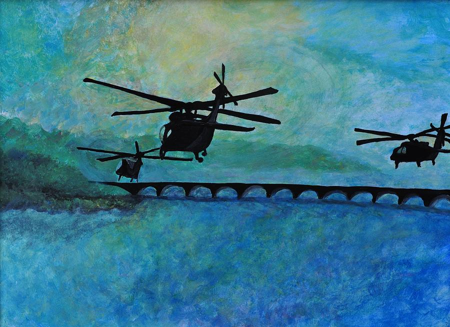 Military Painting - Into The Sunset by Jill Jacobs
