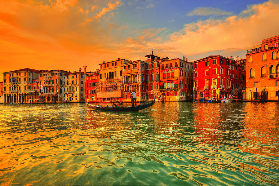 Venice Photograph - Into The Sunset by Midori Chan