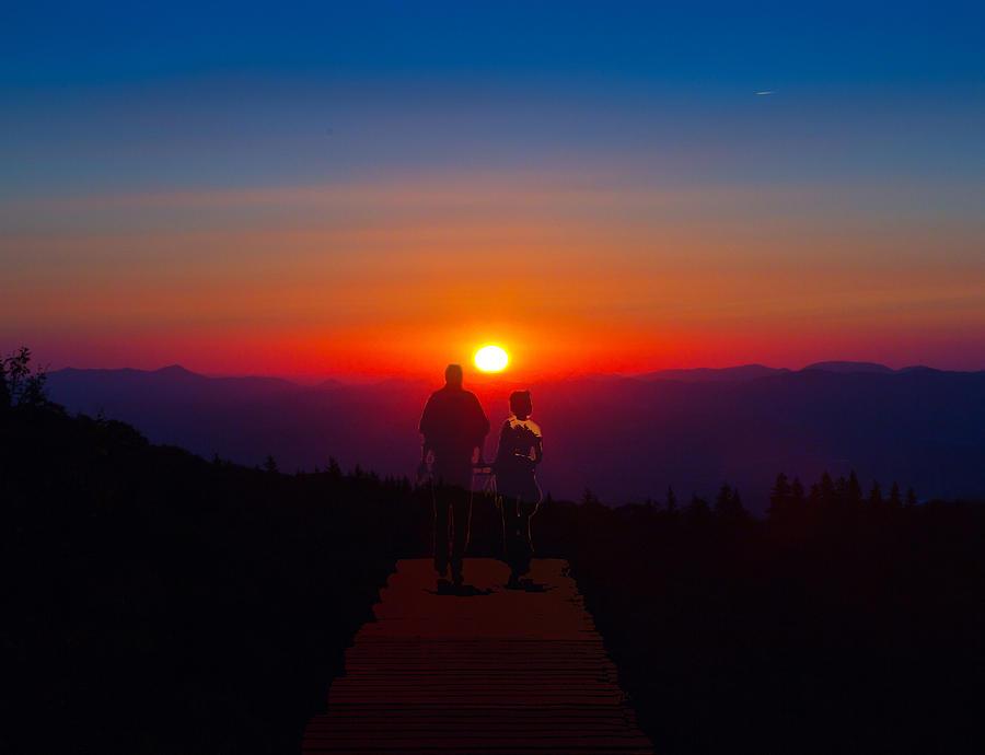 Sunset Photograph - Into The Sunset Together by John Haldane