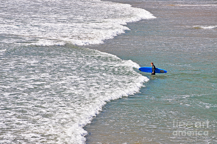 Susan Wiedmann Photograph - Into The Surf by Susan Wiedmann